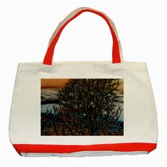 Abstract Sunset Tree Classic Tote Bag (red)