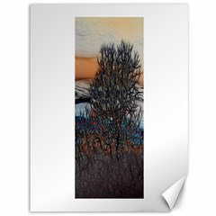Abstract Sunset Tree Canvas 36  x 48  (Unframed)