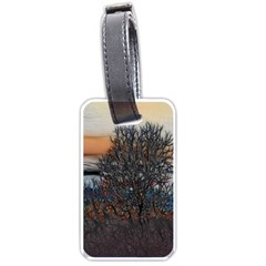Abstract Sunset Tree Luggage Tag (two Sides)