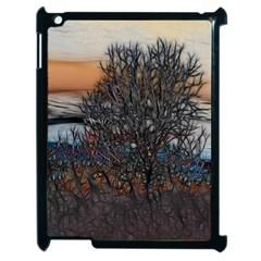 Abstract Sunset Tree Apple Ipad 2 Case (black)