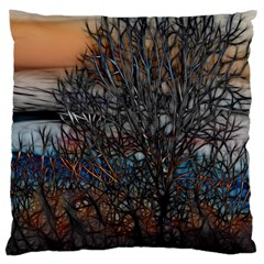 Abstract Sunset Tree Large Cushion Case (two Sided)