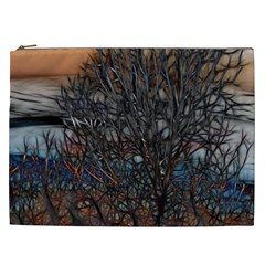 Abstract Sunset Tree Cosmetic Bag (xxl)