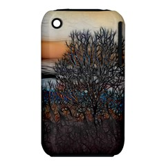 Abstract Sunset Tree Apple iPhone 3G/3GS Hardshell Case (PC+Silicone)