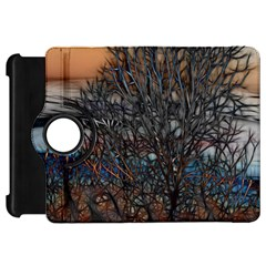 Abstract Sunset Tree Kindle Fire Hd Flip 360 Case