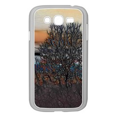 Abstract Sunset Tree Samsung Galaxy Grand DUOS I9082 Case (White)