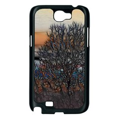 Abstract Sunset Tree Samsung Galaxy Note 2 Case (Black)