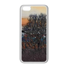 Abstract Sunset Tree Apple iPhone 5C Seamless Case (White)