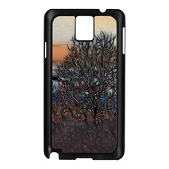 Abstract Sunset Tree Samsung Galaxy Note 3 N9005 Case (Black)