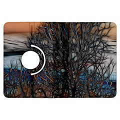 Abstract Sunset Tree Kindle Fire HDX Flip 360 Case