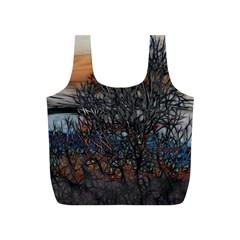 Abstract Sunset Tree Reusable Bag (S)