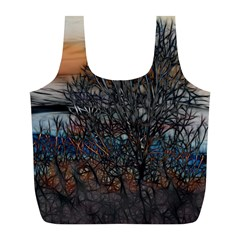 Abstract Sunset Tree Reusable Bag (L)