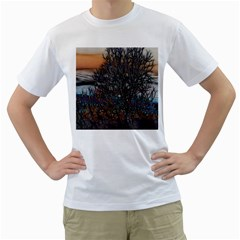 Abstract Sunset Tree Men s T-Shirt (White)