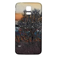 Abstract Sunset Tree Samsung Galaxy S5 Back Case (White)