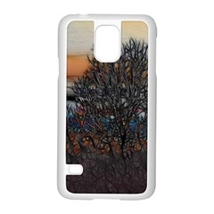 Abstract Sunset Tree Samsung Galaxy S5 Case (White)