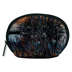 Abstract Sunset Tree Accessory Pouch (Medium)