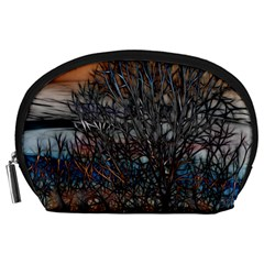 Abstract Sunset Tree Accessory Pouch (Large)