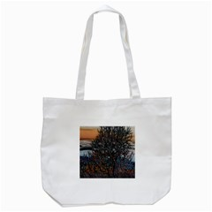 Abstract Sunset Tree Tote Bag (White)