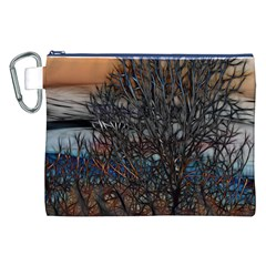 Abstract Sunset Tree Canvas Cosmetic Bag (XXL)