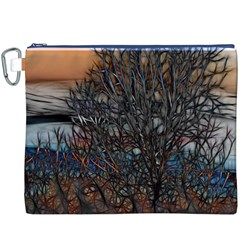 Abstract Sunset Tree Canvas Cosmetic Bag (XXXL)