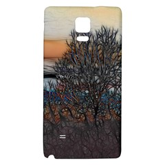 Abstract Sunset Tree Samsung Note 4 Hardshell Back Case