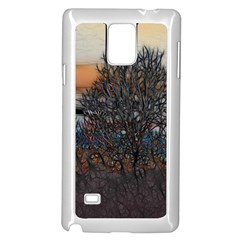 Abstract Sunset Tree Samsung Galaxy Note 4 Case (white)