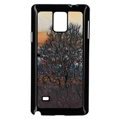 Abstract Sunset Tree Samsung Galaxy Note 4 Case (Black)