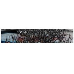Abstract Sunset Tree Flano Scarf (Large)
