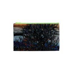 Abstract Sunset Tree Cosmetic Bag (xs)