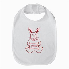 Cute Bunny With Banner Drawing Bib