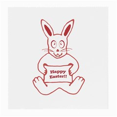 Cute Bunny With Banner Drawing Glasses Cloth (medium, Two Sided)