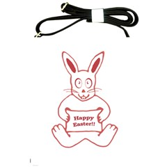 Cute Bunny With Banner Drawing Shoulder Sling Bag