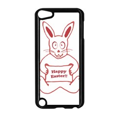 Cute Bunny With Banner Drawing Apple Ipod Touch 5 Case (black)