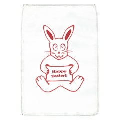 Cute Bunny With Banner Drawing Removable Flap Cover (large)