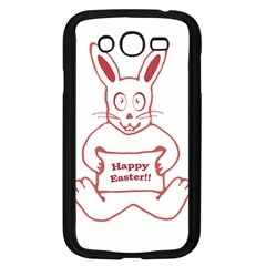 Cute Bunny With Banner Drawing Samsung Galaxy Grand Duos I9082 Case (black)