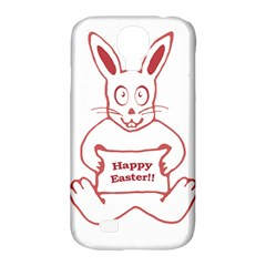 Cute Bunny With Banner Drawing Samsung Galaxy S4 Classic Hardshell Case (pc+silicone)