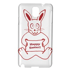 Cute Bunny With Banner Drawing Samsung Galaxy Note 3 N9005 Hardshell Case