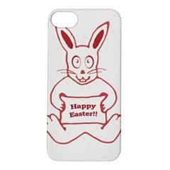 Cute Bunny With Banner Drawing Apple iPhone 5S Hardshell Case