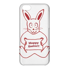 Cute Bunny With Banner Drawing Apple Iphone 5c Hardshell Case