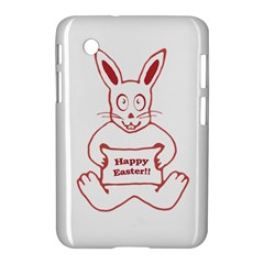 Cute Bunny With Banner Drawing Samsung Galaxy Tab 2 (7 ) P3100 Hardshell Case