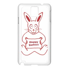 Cute Bunny With Banner Drawing Samsung Galaxy Note 3 N9005 Case (white)