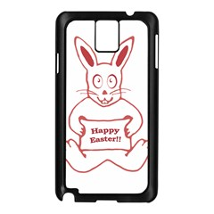 Cute Bunny With Banner Drawing Samsung Galaxy Note 3 N9005 Case (Black)