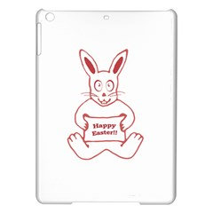 Cute Bunny With Banner Drawing Apple Ipad Air Hardshell Case