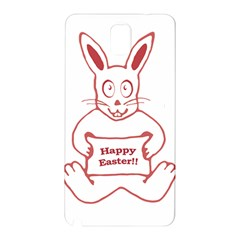 Cute Bunny With Banner Drawing Samsung Galaxy Note 3 N9005 Hardshell Back Case
