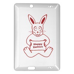 Cute Bunny With Banner Drawing Kindle Fire HD (2013) Hardshell Case