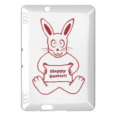Cute Bunny With Banner Drawing Kindle Fire Hdx Hardshell Case