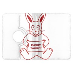 Cute Bunny With Banner Drawing Kindle Fire Hdx Flip 360 Case