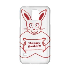 Cute Bunny With Banner Drawing Samsung Galaxy S5 Hardshell Case