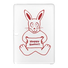 Cute Bunny With Banner Drawing Samsung Galaxy Tab Pro 10.1 Hardshell Case