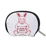 Cute Bunny With Banner Drawing Accessory Pouch (Small) Back