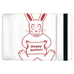 Cute Bunny With Banner Drawing Apple iPad Air Flip Case